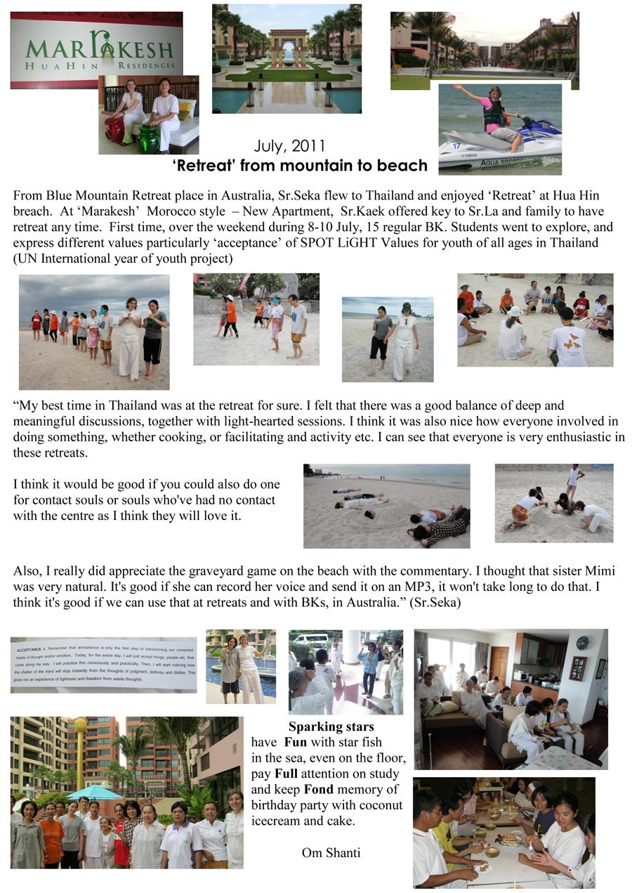 Brahma Kumaris Thailand - Service News